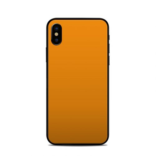 Solid State Orange iPhone X Skin
