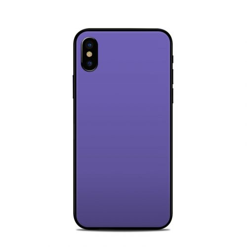 Solid State Purple iPhone XS Skin