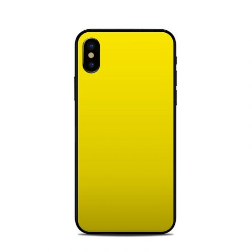 Solid State Yellow iPhone X Skin