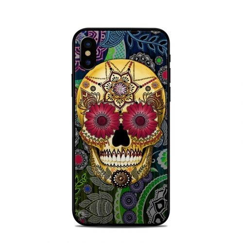 Sugar Skull Paisley iPhone X Skin