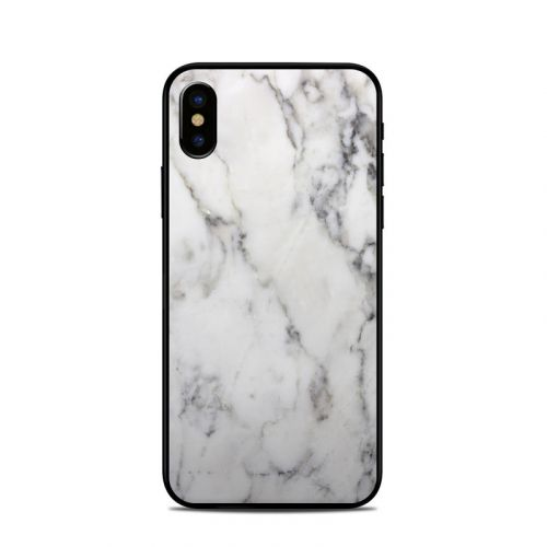 White Marble iPhone XS Skin