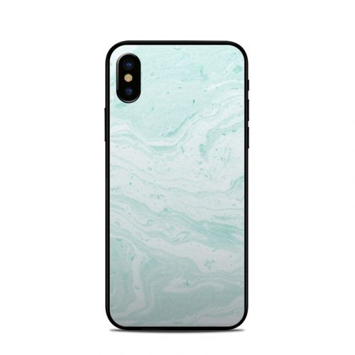 Winter Green Marble iPhone X Skin