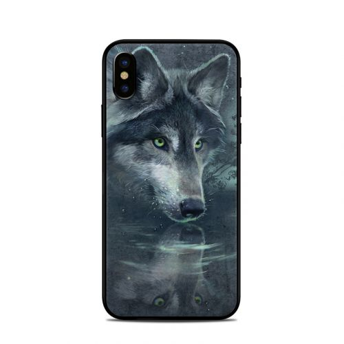 Wolf Reflection iPhone X Skin