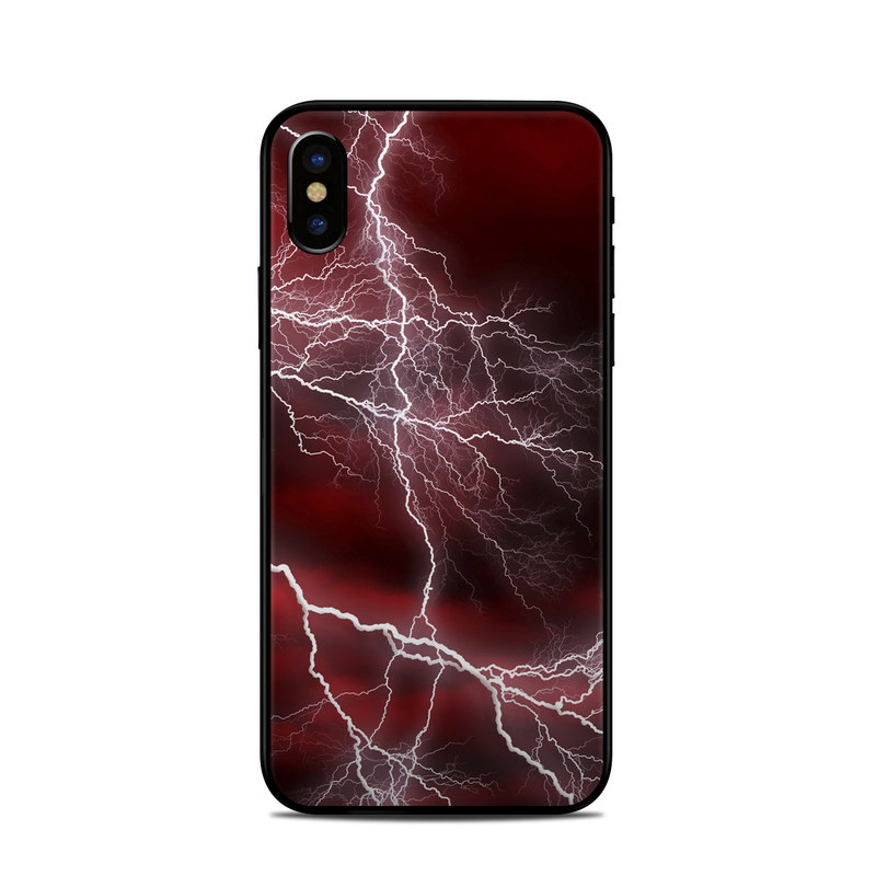 Apocalypse Red iPhone X Skin