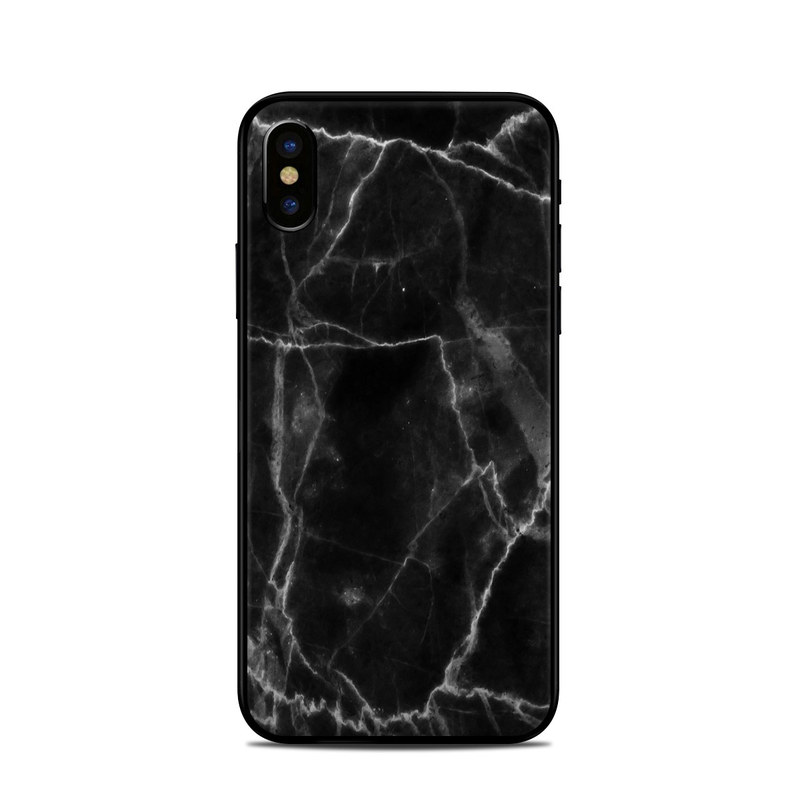 Black Marble iPhone X Skin