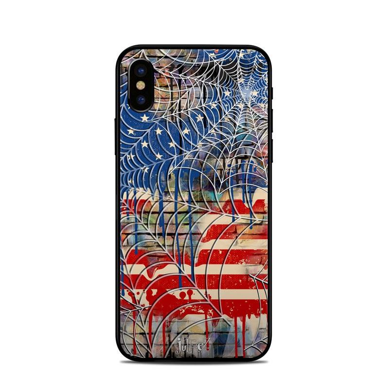 Cobweb Flag iPhone XS Skin
