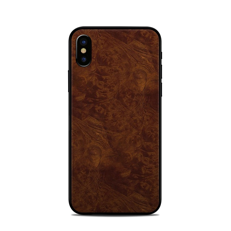 iPhone XS Skin design of Brown, Wood, Wood flooring, Caramel color, Pattern, Hardwood, Wood stain, Flooring, Floor, Plywood with brown colors