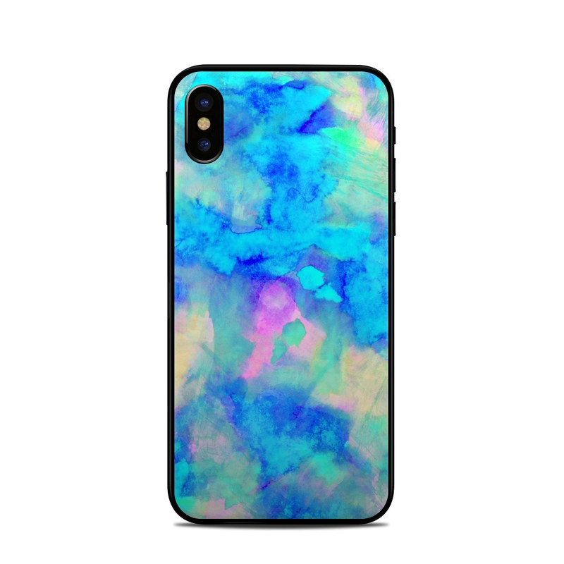 Electrify Ice Blue iPhone XS Skin