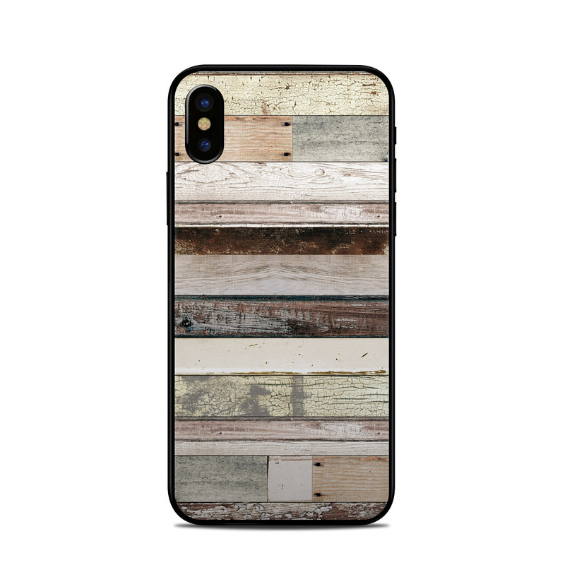 Eclectic Wood iPhone XS Skin