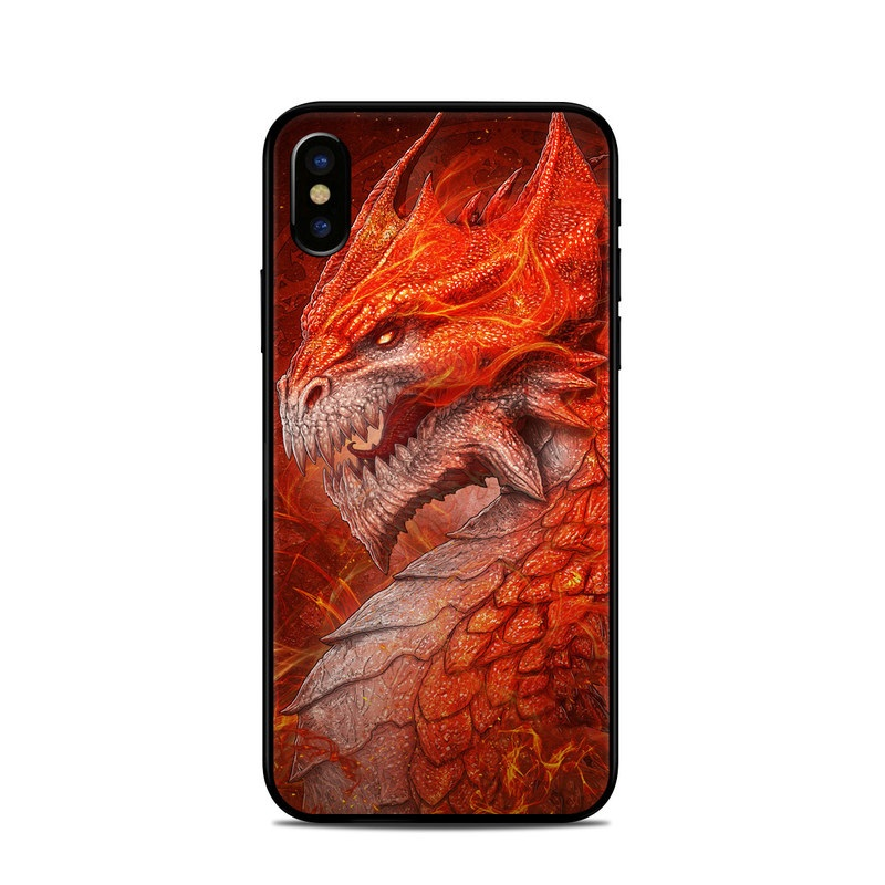 Flame Dragon iPhone X Skin