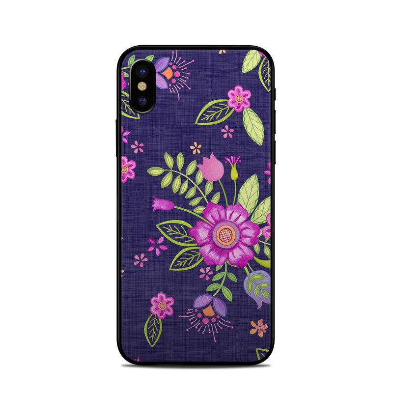 Folk Floral iPhone X Skin