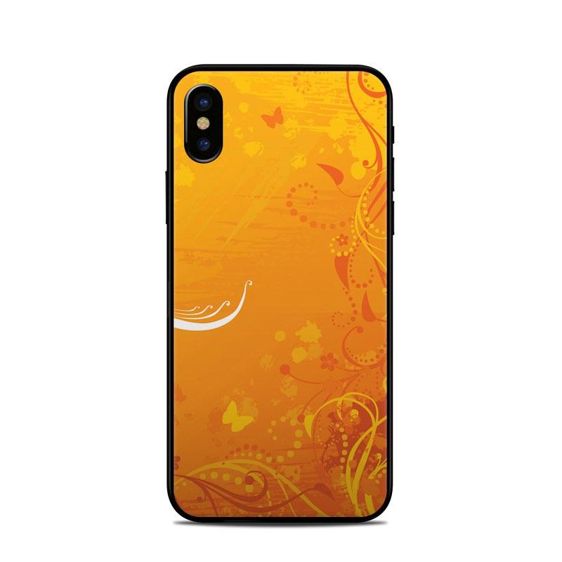 Orange Crush iPhone X Skin
