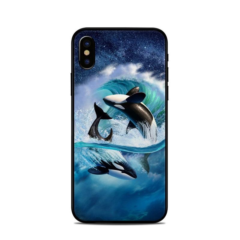Orca Wave iPhone X Skin