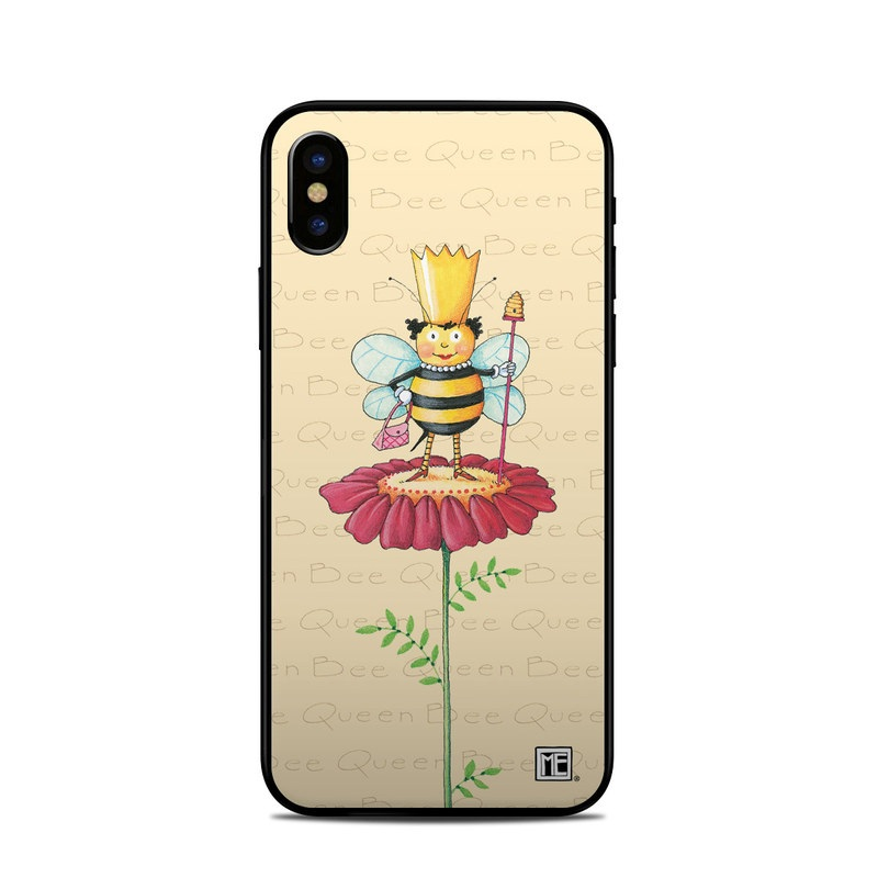 iPhone XS Skin design of Cartoon, Cut flowers, Flower, Clip art, Plant, Fictional character, Illustration, Wildflower, Plant stem, Drawing with pink, gray, red, orange, green colors
