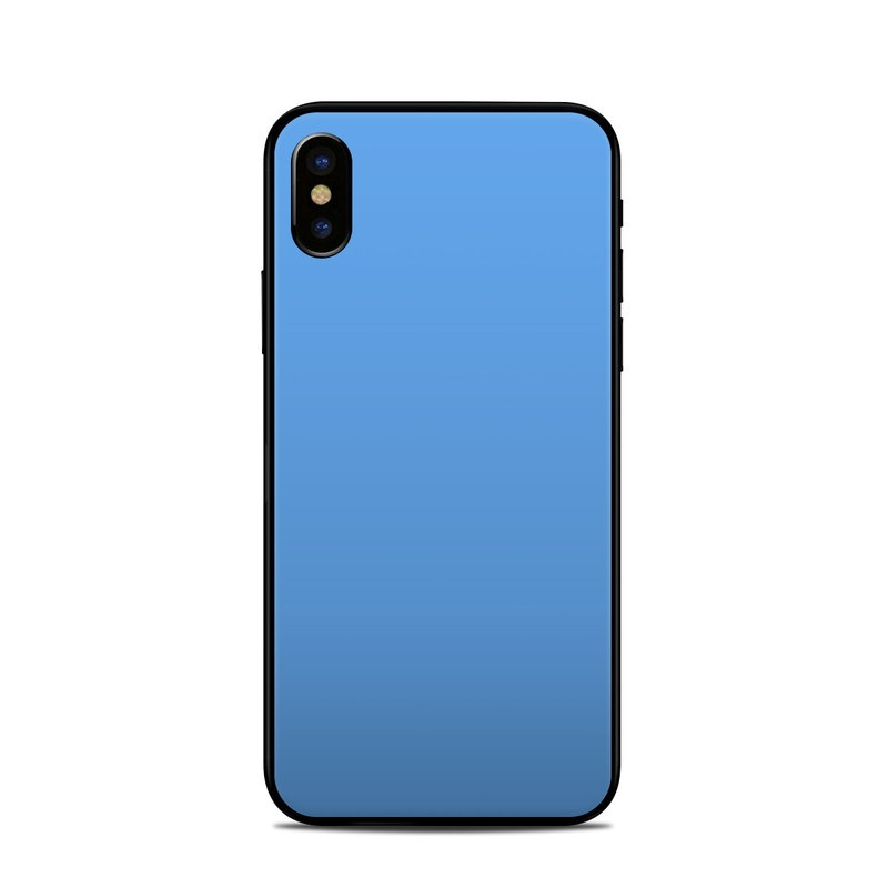 Solid State Blue iPhone X Skin