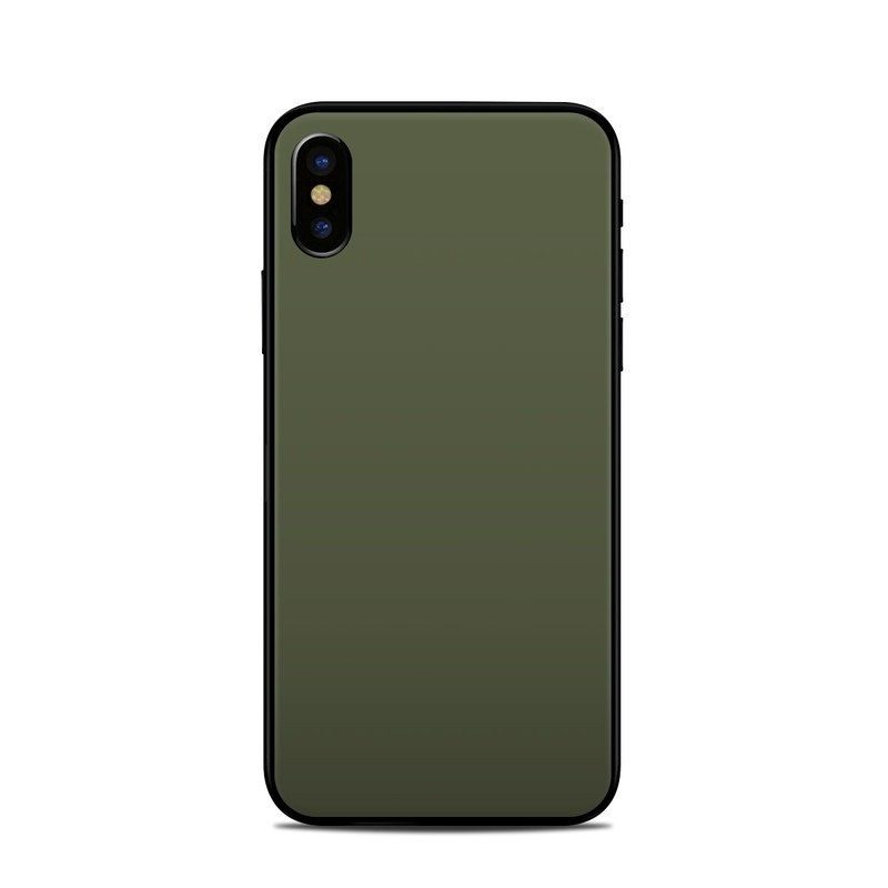 iPhone XS Skin design of Green, Brown, Text, Yellow, Grass, Font, Pattern, Beige with green colors