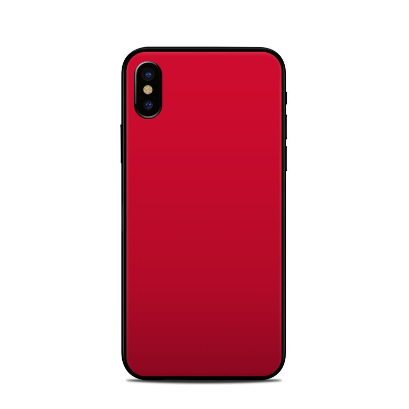 Solid State Red iPhone X Skin