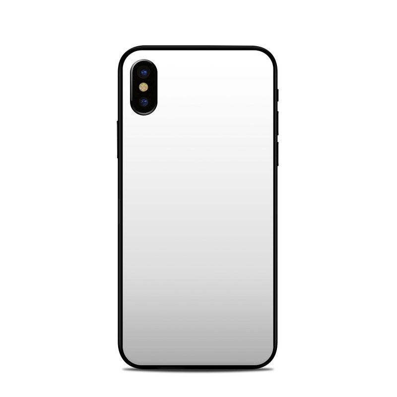 iPhone XS Skin design of White, Black, Line with white colors