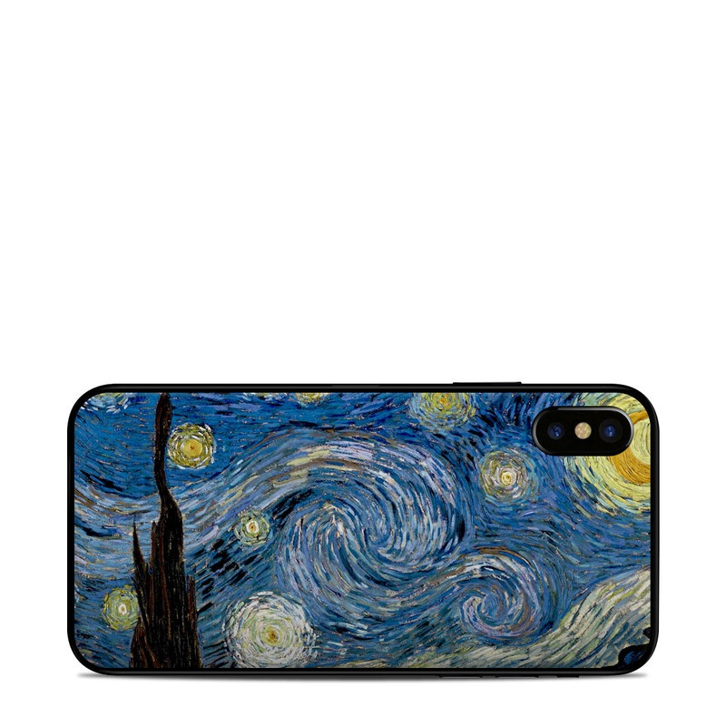 iPhone XS Skin design of Painting, Purple, Art, Tree, Illustration, Organism, Watercolor paint, Space, Modern art, Plant with gray, black, blue, green colors