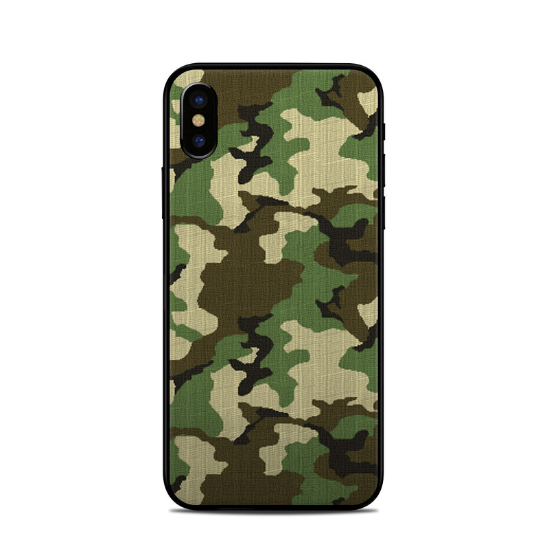 Woodland Camo iPhone X Skin