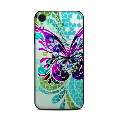 Butterfly Glass iPhone XR Skin