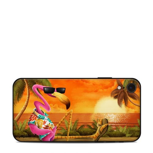 Sunset Flamingo iPhone XR Skin