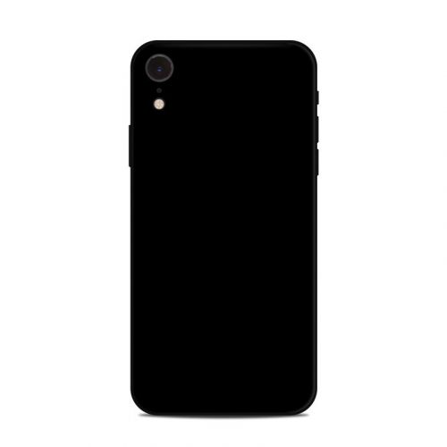 Solid State Black iPhone XR Skin