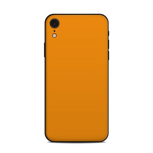 Solid State Orange iPhone XR Skin