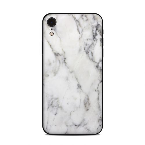White Marble iPhone XR Skin