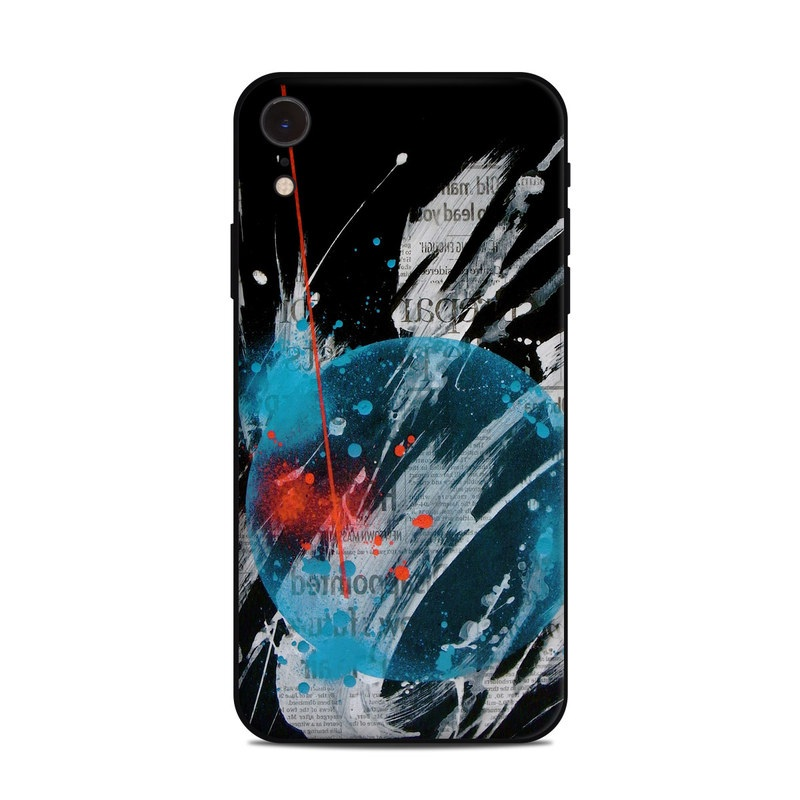iPhone XR Skin design of Graphic design, Illustration, Graphics, Design, Art, Space, World with black, gray, blue, red colors