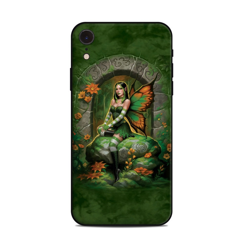iPhone XR Skin design of Fictional character, Cg artwork, Mythology, Mythical creature, Illustration, Plant, Art with black, green, red, gray colors