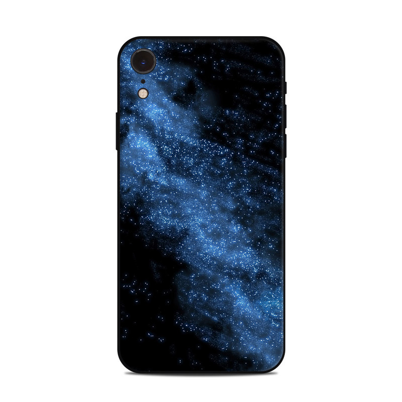 iPhone XR Skin design of Sky, Atmosphere, Black, Blue, Outer space, Atmospheric phenomenon, Astronomical object, Darkness, Universe, Space with black, blue colors