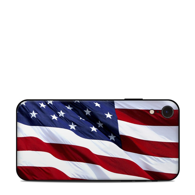 iPhone XR Skin design of Flag, Flag of the united states, Flag Day (USA), Veterans day, Memorial day, Holiday, Independence day, Event with red, blue, white colors