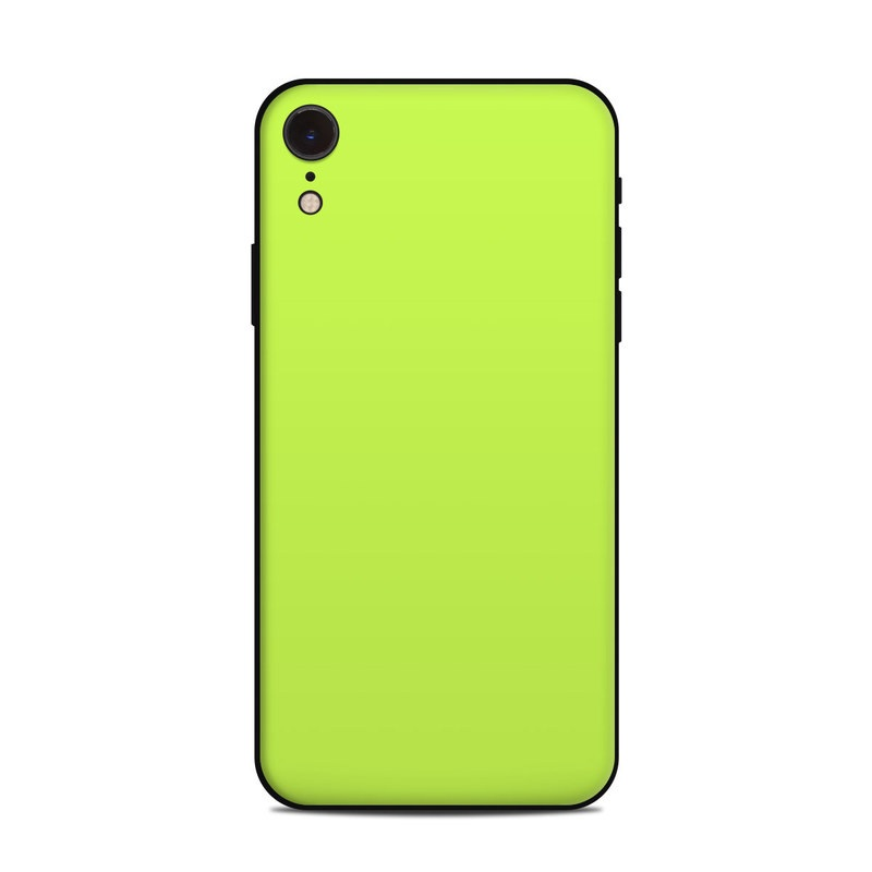 the best attitude be65e 6f270 Solid State Lime iPhone XR Skin