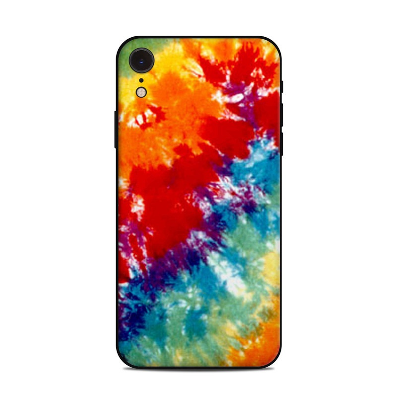 iPhone XR Skin design of Orange, Watercolor paint, Sky, Dye, Acrylic paint, Colorfulness, Geological phenomenon, Art, Painting, Organism with red, orange, blue, green, yellow, purple colors