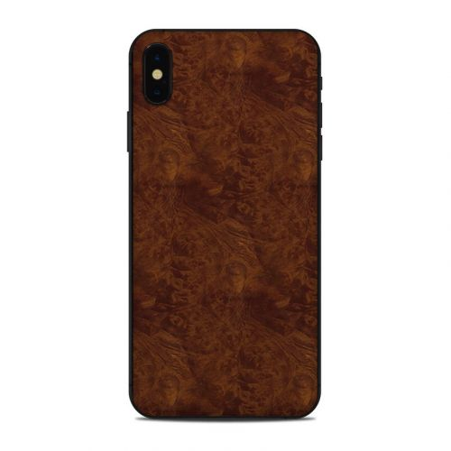Dark Burlwood iPhone XS Max Skin