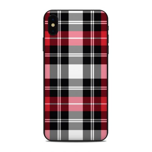 Red Plaid iPhone XS Max Skin
