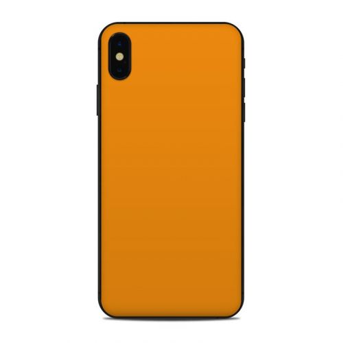 Solid State Orange iPhone XS Max Skin