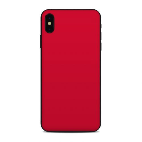 Solid State Red iPhone XS Max Skin