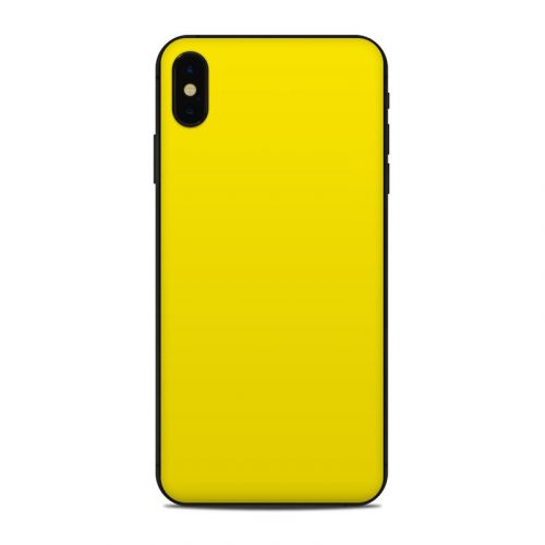 Solid State Yellow iPhone XS Max Skin