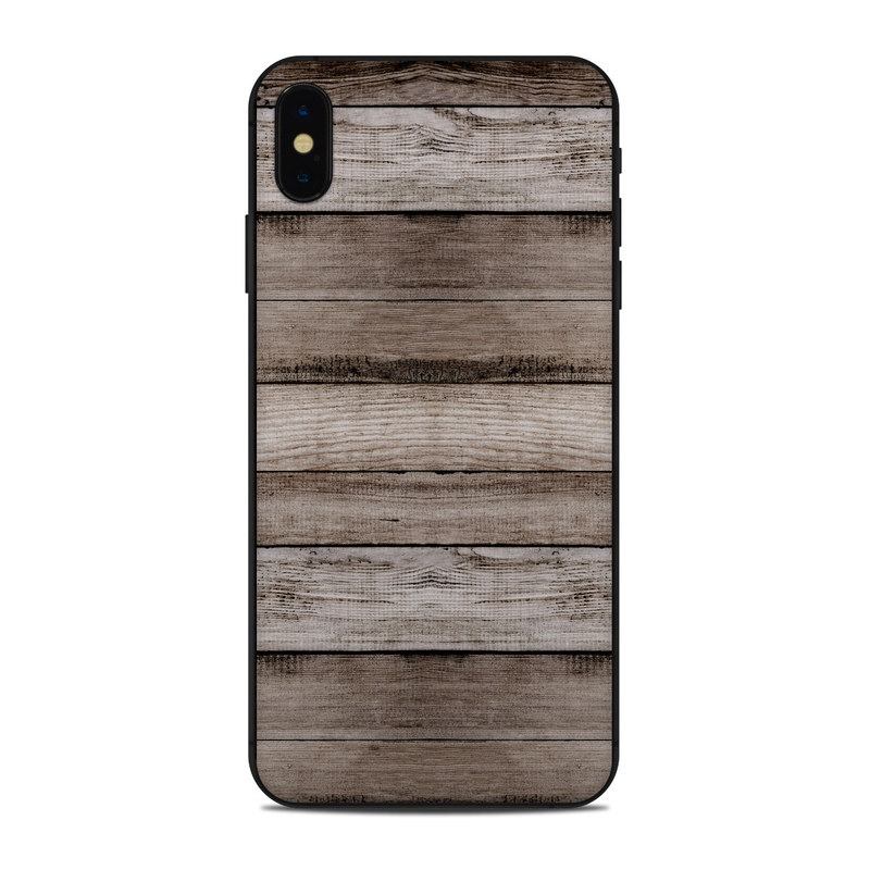 iPhone XS Max Skin design of Wood, Plank, Wood stain, Hardwood, Line, Pattern, Floor, Lumber, Wood flooring, Plywood with brown, black colors