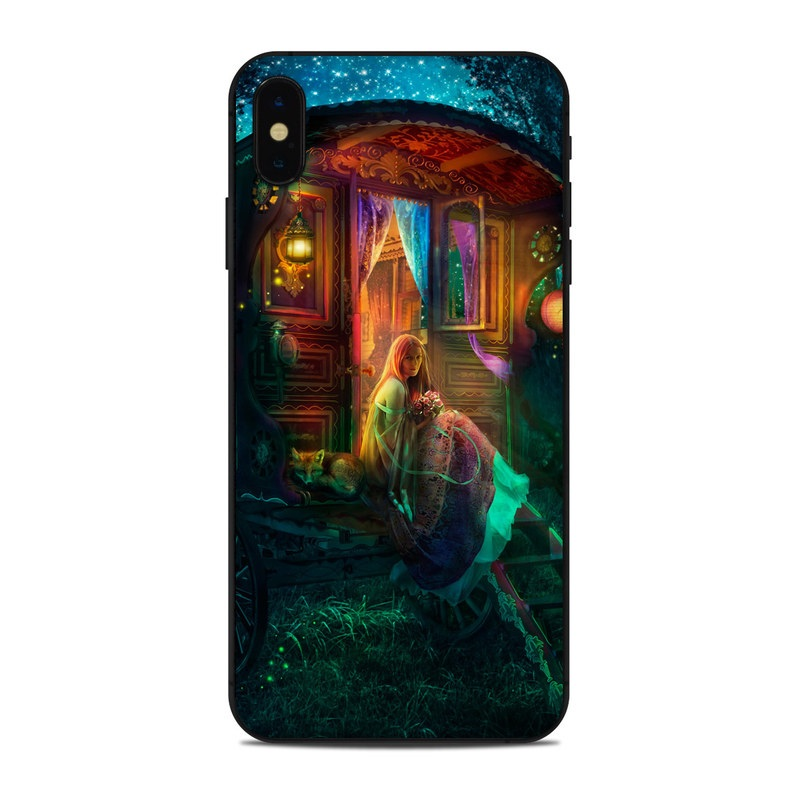 iPhone XS Max Skin design of Illustration, Adventure game, Darkness, Art, Digital compositing, Fictional character, Games with black, red, blue, green colors