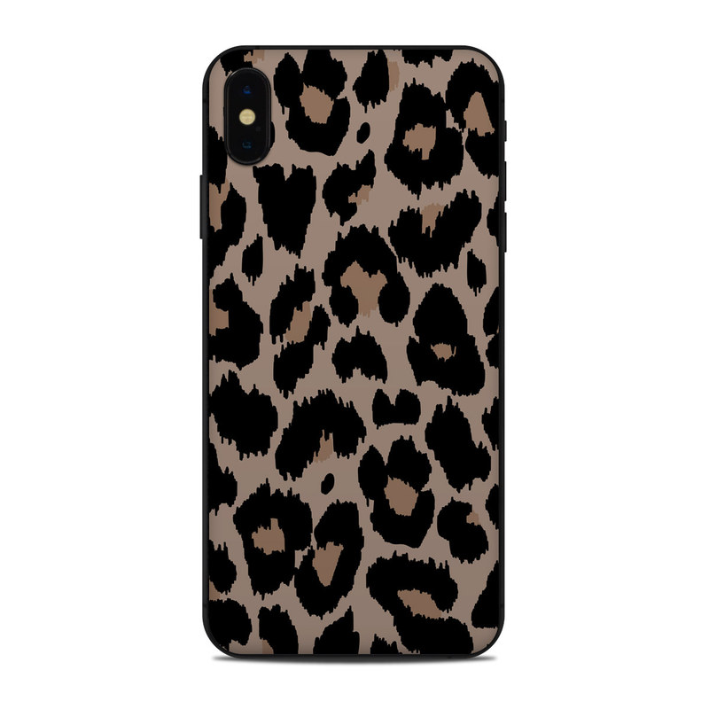 iPhone XS Max Skin design of Pattern, Brown, Fur, Design, Textile, Monochrome, Fawn with black, gray, red, green colors