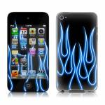 Blue Neon Flames iPod touch 4th Gen Skin