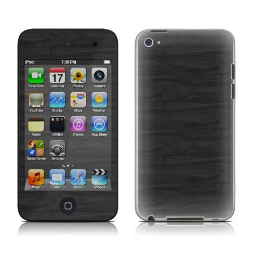 Black Woodgrain iPod touch 4th Gen Skin
