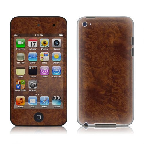 Dark Burlwood iPod touch 4th Gen Skin