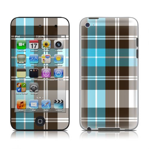Turquoise Plaid iPod touch 4th Gen Skin