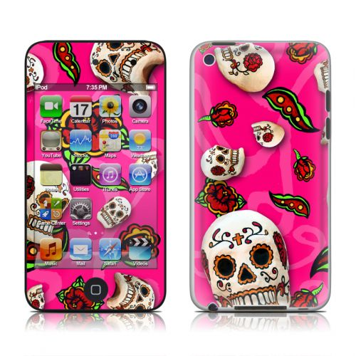 Pink Scatter iPod touch 4th Gen Skin