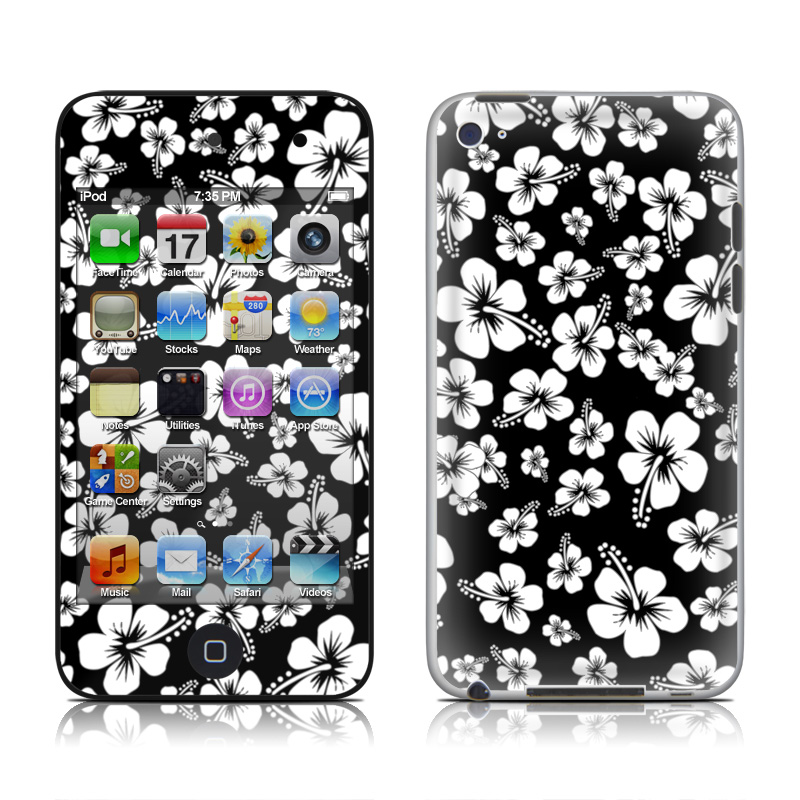 Aloha Black iPod touch 4th Gen Skin