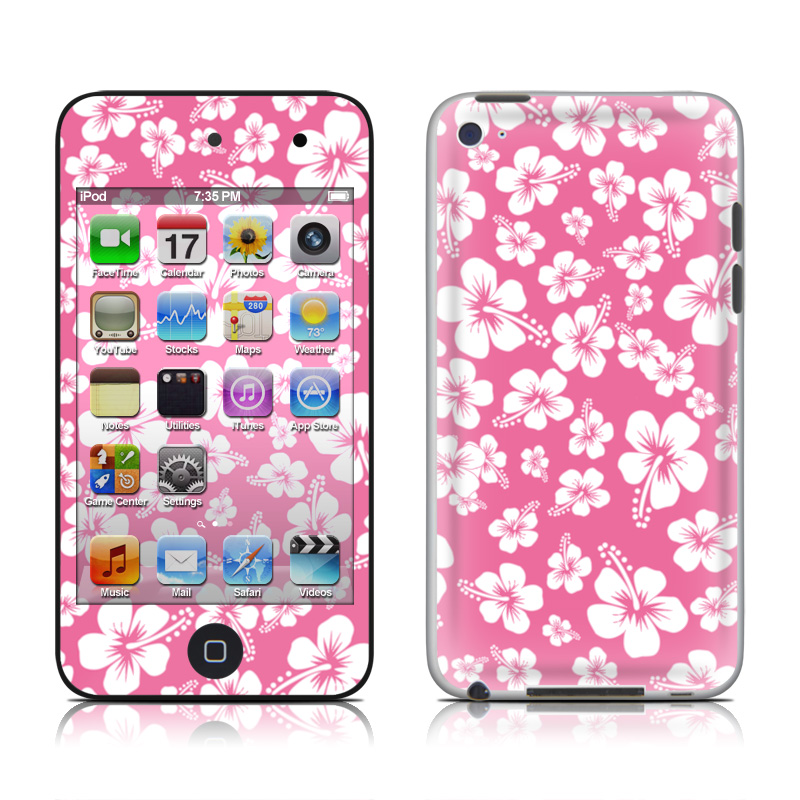 Aloha Pink iPod touch 4th Gen Skin